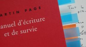 Quelques leçons de Martin Page sur l'écriture